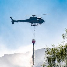 Helicopter drops another water bomb on Ilkley Moor fire