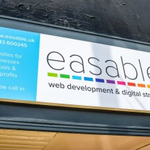 easable sign over doorway in Ilkley
