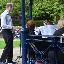 Ilkley Bandstand conductor