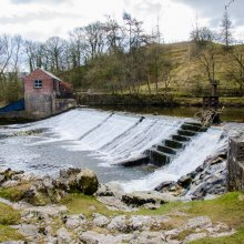This picture shows the now restored hydro-electric plant